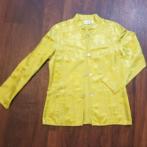 Chico's Floral Jacket Size 1 (M)